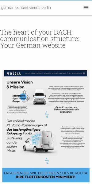GCVB responsive design mobile view